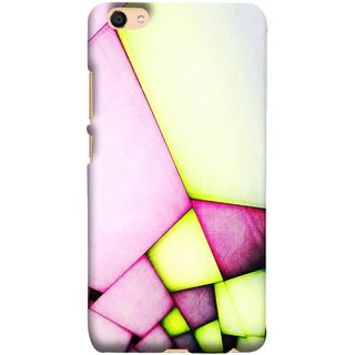 FUSON Designer Back Case Cover for Vivo V5 (Red Pink Green Squares Wall Big Hall Painting )