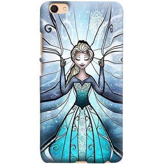 FUSON Designer Back Case Cover for Vivo V5 (The Blue Rose Doll Baby Girl Nice Dress Long Hairs )