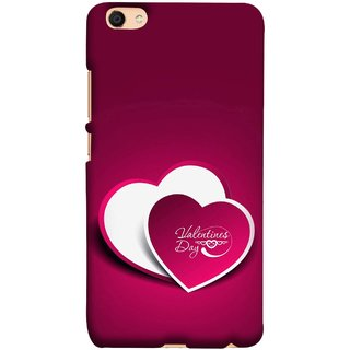 FUSON Designer Back Case Cover for Vivo V5 (Just Pinky Say Always I Love You Red Hearts Couples)