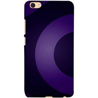 FUSON Designer Back Case Cover for Vivo V5 (Light And Dark Blue Beautiful Pattern Canvas Paint)