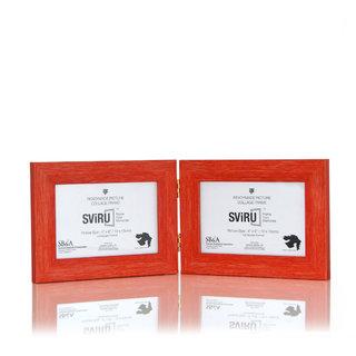 SViRU Hinged/Folding Photo Frame -BOLD - 4 X 6 - Orange - Landscape