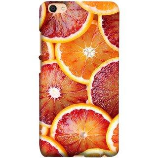 FUSON Designer Back Case Cover for Vivo V5 (Citric Flesh Food Fruit Green Lemon Part Peel Orange)