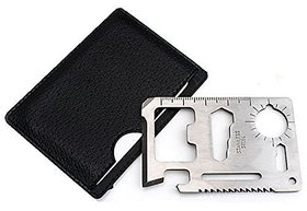 11 in 1 Stainless Steel Multi Function Pocket Credit Card Size Tool Kit