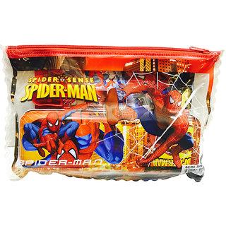 Priyankish Smart Kidz Cartoon Art  SpiderMan Stationary Pouch Pencil Box (Set of 6, Multicolor)