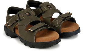 Lee Peeter Men's Olive Velcro Sandals