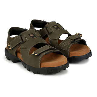 Lee Peeter Men's Olive Velcro Sandals
