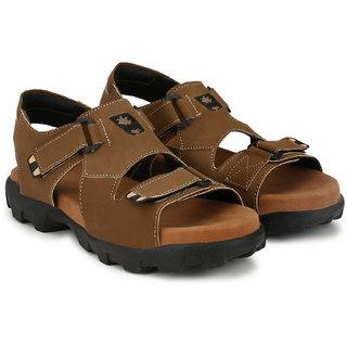 bc65a33be4b7 Buy Lee Peeter Men s Brown Velcro Sandals Online - Get 43% Off