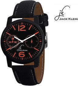 Jack Klein Stylish Round Dial Black Strap Analogue Wris