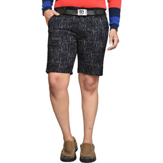 American Noti Printed Stretchable Cotton Lycra Slim Fit Men's Shorts(Bermuda)/3/4 th