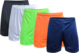 Sports Polyester Multi-colour Short Set(Pack of 5)
