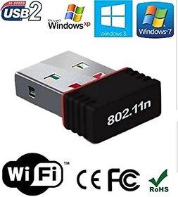 Higadget Wi-Fi Receiver 300Mbps, 2.4GHz, 802.11b/g/n USB 2.0 Wireless Mini Wi-Fi Network Adapter