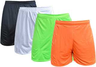 Sports Polyester Multi-colour Short Set(Pack of 4)