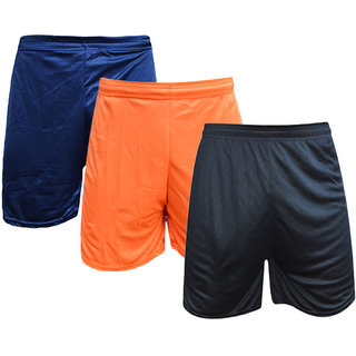 Sports Polyester Multi-colour Short Set(Pack of 3)