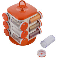 Jony Rotating Spice Rack (masala rack) Orange 12pcs