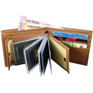 wenzest tan mens wallet upto 10 cards pockets