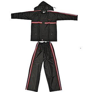 Rider Plus PU Rainsuit Black