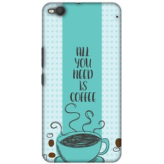 Amzer Designer Case Printed Protective Back Cover All You Need Is Coffee For HTC One X9