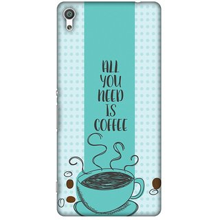 Amzer Designer Case Printed Protective Back Cover All You Need Is Coffee For Sony Xperia XA