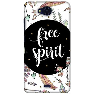 Amzer Designer Case Printed Protective Back Cover The Free Spirit For Micromax Canvas Play Q355