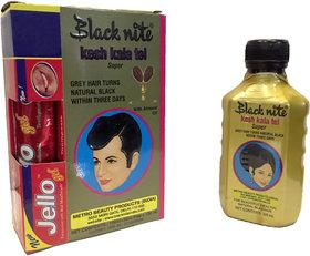 Black Nite kesh kala tel super Permanent Hair Color Black Natural Black 120 ml Pack of 6