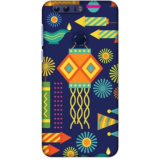 Amzer Diwali Designer Case Printed Protective Back Covers Diwali Galore For Huawei Honor 8