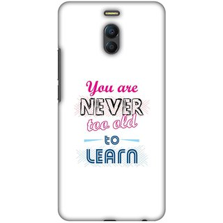 Amzer Designer Case Printed Protective Back Cover Never Too Old To Learn For Meizu Meilan Note 6