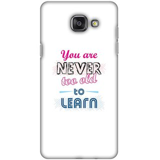 Amzer Designer Case Printed Protective Back Cover Never Too Old To Learn For Samsung GALAXY A5 2016 SM-A510F