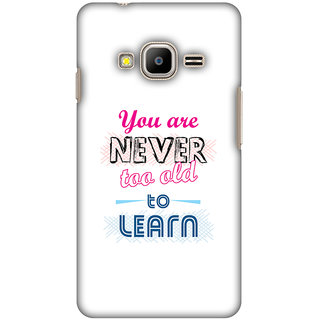 Amzer Designer Case Printed Protective Back Cover Never Too Old To Learn For Samsung Z2 SM-Z200F