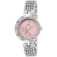 Ziera ZR8025 Pink Dial Analog Watch - For Women