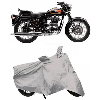 BigWheels Premium Quality Silver Matty Two Wheeler Bike Body Cover For Royal Enfeeld Bullet