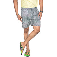 True Fashion Cotton Checkered Causal Boxer Short SABOXSOTB19