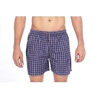 True Fashion Cotton Checkered Causal Boxer Short SABXR06