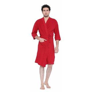 dec7232b80 Buy FeelBlue cotton Bathrobe( Red)- Full Online - Get 40% Off