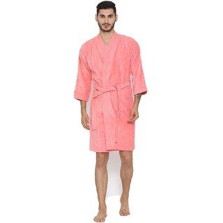 23945a83ea Buy FeelBlue cotton Bathrobe( Pink)- Full Online - Get 40% Off