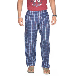 True Fashion Cotton Casual Checkered Pyjamas SAPYJCHKB04