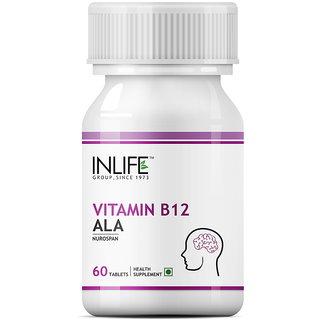 INLIFE Vitamin B12 Alpha lipoic acid (ALA),60 Tablets For Cognitive Memory Health