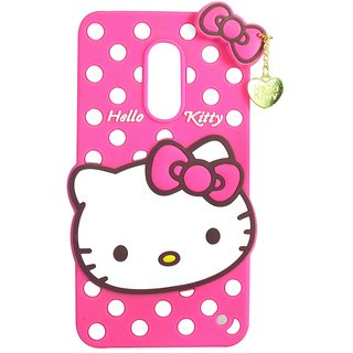 Cantra Hello Kitty 3D Designer Back Cover For Note 4 - Pink