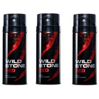 Wildstone Spray Deo(Red) For Men 150ml (Set of 3)