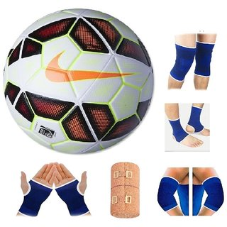RetailWorld Premier League Red Yellow Football (Size-5) with Fitness Items  Combo 74822005b5f05