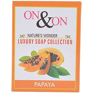 ON ON NATURES LUXURY PAPAYA SOAP - PACK OF 3