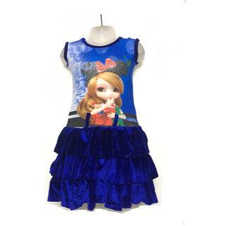 Velvet Skirt with Lycra Top
