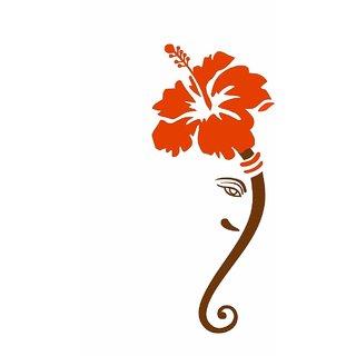 Asmi Collections Wall Stickers God Ganesha Flower