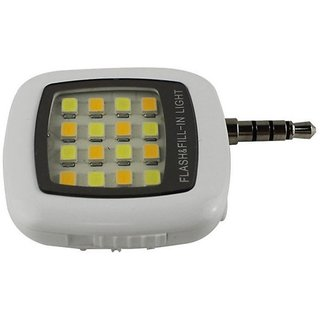 CP Bigbasket Selfie Flash Light White 16 LED flash light with Three levels of brightness to click selfies.