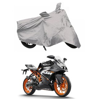 De AutoCare Premium Quality Silver Matty Two Wheeler Bike Body Cover KTM Duke