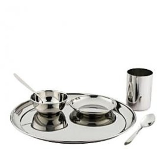 Lcnd-Stainless Steel Dinner Set - 6 Pcs