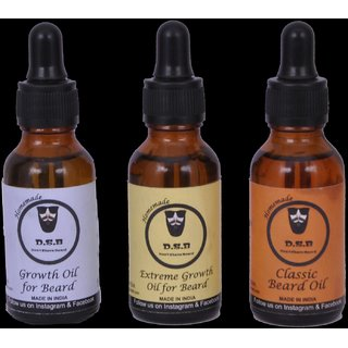 DSB beard oil classic oil  growth oil and extreme growth oil (30 ml)
