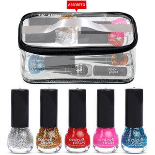 Adbeni Combo Set Nail Paint and Makeup Pouch