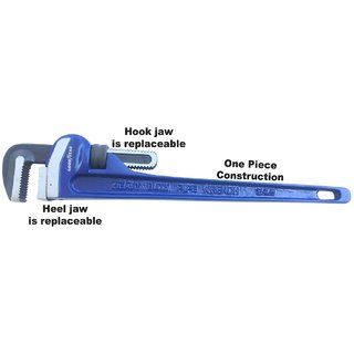 Goodyear GY10598 PIPE WRENCH RIGID TYPE (EXTRA HEAVY DUTY)  Size 14 (350mm)
