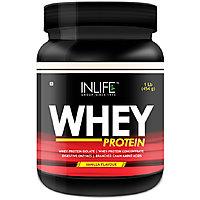 Inlife Whey Protein Powder 1 Lbs(Vanilla Flavour) Body Building Supplement