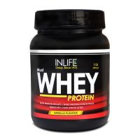 INLIFE Whey Protein Powder 1 Lbs(Vanilla Flavour) Body Building Supplement